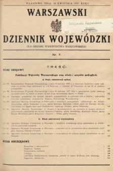 Warszawski Dziennik Wojewódzki : dla obszaru Województwa Warszawskiego. 1937, nr7