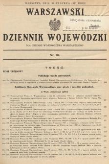 Warszawski Dziennik Wojewódzki : dla obszaru Województwa Warszawskiego. 1937, nr10