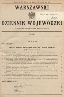 Warszawski Dziennik Wojewódzki : dla obszaru Województwa Warszawskiego. 1937, nr15