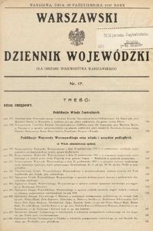 Warszawski Dziennik Wojewódzki : dla obszaru Województwa Warszawskiego. 1937, nr17