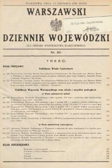 Warszawski Dziennik Wojewódzki : dla obszaru Województwa Warszawskiego. 1937, nr20