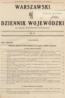 Warszawski Dziennik Wojewódzki : dla obszaru Województwa Warszawskiego. 1938, nr5