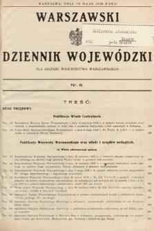 Warszawski Dziennik Wojewódzki : dla obszaru Województwa Warszawskiego. 1938, nr8