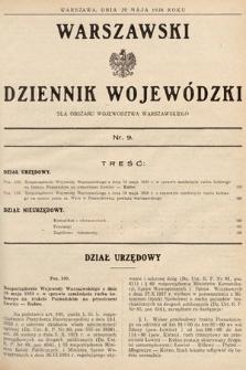 Warszawski Dziennik Wojewódzki : dla obszaru Województwa Warszawskiego. 1938, nr9