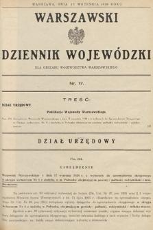 Warszawski Dziennik Wojewódzki : dla obszaru Województwa Warszawskiego. 1938, nr17