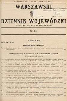 Warszawski Dziennik Wojewódzki : dla obszaru Województwa Warszawskiego. 1938, nr24