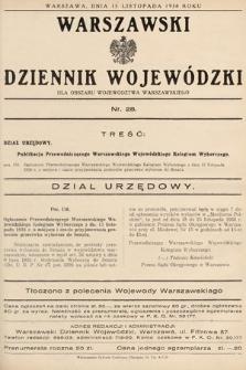 Warszawski Dziennik Wojewódzki : dla obszaru Województwa Warszawskiego. 1938, nr28