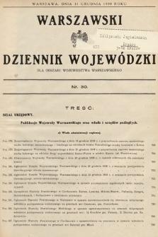 Warszawski Dziennik Wojewódzki : dla obszaru Województwa Warszawskiego. 1938, nr30