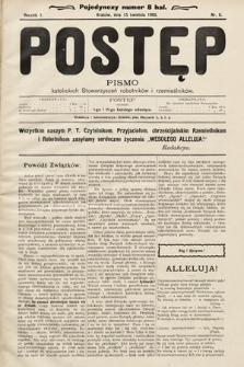 Postęp : pismo katolickich stowarzyszeń robotników irzemieślników. 1905, nr6