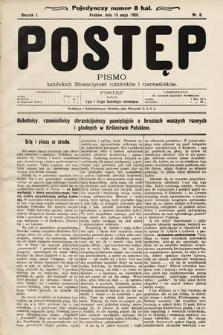 Postęp : pismo katolickich stowarzyszeń robotników irzemieślników. 1905, nr8