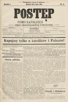 Postęp : pismo katolickie : organ chrześcijańskiej demokracyi. 1905, nr11