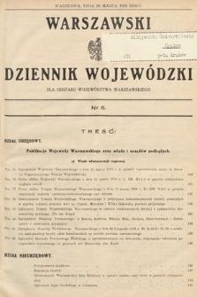 Warszawski Dziennik Wojewódzki : dla obszaru Województwa Warszawskiego. 1939, nr5
