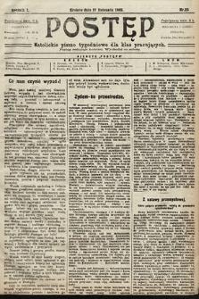Postęp : katolickie pismo tygodniowe dla klas pracujących. 1905, nr23