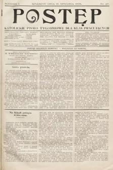 Postęp : katolickie pismo tygodniowe dla klas pracujących. 1905, nr27