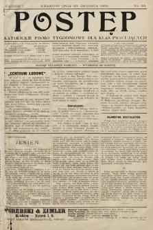 Postęp : katolickie pismo tygodniowe dla klas pracujących. 1905, nr30