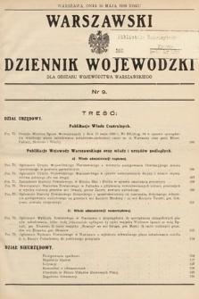 Warszawski Dziennik Wojewódzki : dla obszaru Województwa Warszawskiego. 1939, nr9