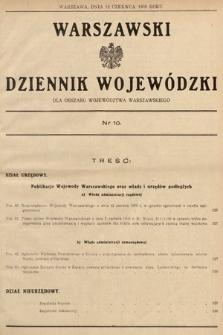Warszawski Dziennik Wojewódzki : dla obszaru Województwa Warszawskiego. 1939, nr10