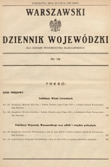 Warszawski Dziennik Wojewódzki : dla obszaru Województwa Warszawskiego. 1939, nr13