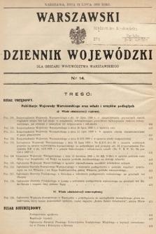 Warszawski Dziennik Wojewódzki : dla obszaru Województwa Warszawskiego. 1939, nr14