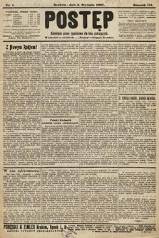 Postęp : katolickie pismo tygodniowe dla klas pracujących. 1907, nr1