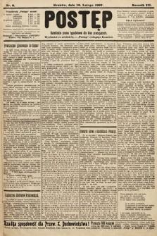 Postęp : katolickie pismo tygodniowe dla klas pracujących. 1907, nr6