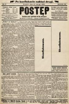 Postęp : katolickie pismo tygodniowe dla klas pracujących. 1907, nr7 [ocenzurowany]