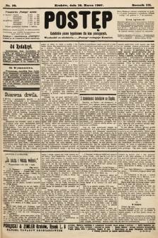 Postęp : katolickie pismo tygodniowe dla klas pracujących. 1907, nr10