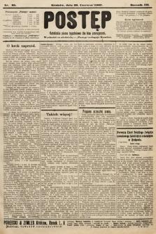 Postęp : katolickie pismo tygodniowe dla klas pracujących. 1907, nr25