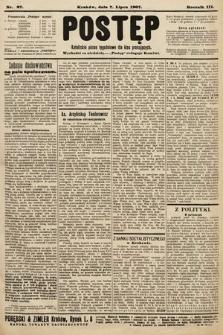 Postęp : katolickie pismo tygodniowe dla klas pracujących. 1907, nr27