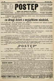 Postęp : katolickie pismo tygodniowe dla klas pracujących. 1907, nr39