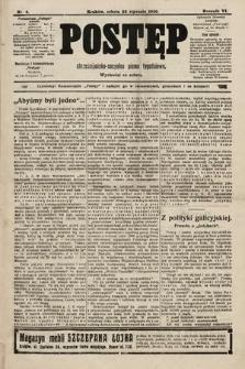 Postęp : chrześcijańsko-socjalne pismo tygodniowe. 1910, nr4
