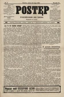 Postęp : chrześcijańsko-socjalne pismo tygodniowe. 1910, nr8