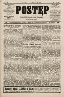 Postęp : chrześcijańsko-socjalne pismo tygodniowe. 1910, nr16