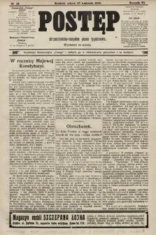 Postęp : chrześcijańsko-socjalne pismo tygodniowe. 1910, nr18