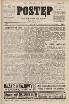 Postęp : chrześcijańsko-socjalne pismo tygodniowe. 1910, nr34