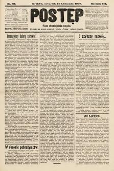 Postęp : pismo chrześcijańsko-socyalne. 1907, nr62