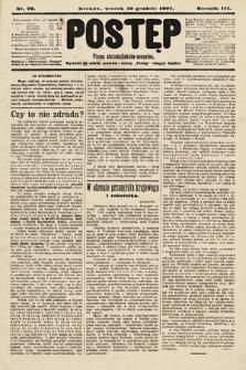 Postęp : pismo chrześcijańsko-socyalne. 1907, nr70