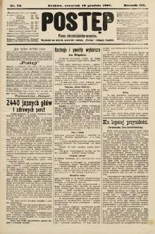 Postęp : pismo chrześcijańsko-socyalne. 1907, nr74