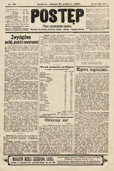 Postęp : pismo chrześcijańsko-socyalne. 1907, nr75
