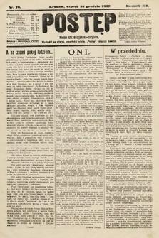 Postęp : pismo chrześcijańsko-socyalne. 1907, nr76