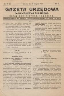 Gazeta Urzędowa Województwa Śląskiego. Dział Administracji Szkolnej. 1932, nr39(7)