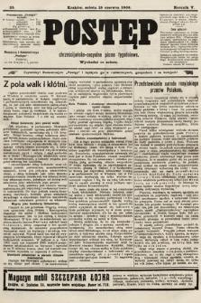 Postęp : chrześcijańsko-socyalne pismo tygodniowe. 1909, nr25