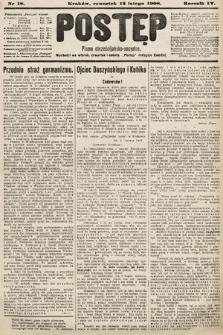 Postęp : pismo chrześcijańsko-socyalne. 1908, nr18