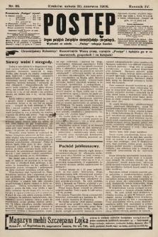 Postęp : organ polskich związków chrześcijańsko-socyalnych. 1908, nr38