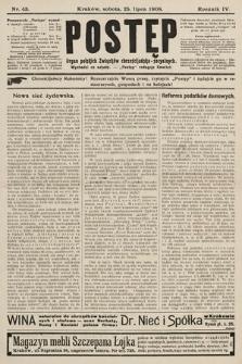 Postęp : organ polskich związków chrześcijańsko-socyalnych. 1908, nr43