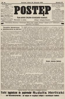 Postęp : organ polskich związków chrześcijańsko-socyalnych. 1908, nr61