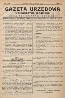 Gazeta Urzędowa Województwa Śląskiego. Dział Administracji Szkolnej. 1933, nr4(1)