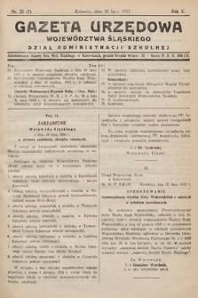 Gazeta Urzędowa Województwa Śląskiego. Dział Administracji Szkolnej. 1933, nr25(7)
