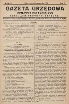 Gazeta Urzędowa Województwa Śląskiego. Dział Administracji Szkolnej. 1933, nr36(10)