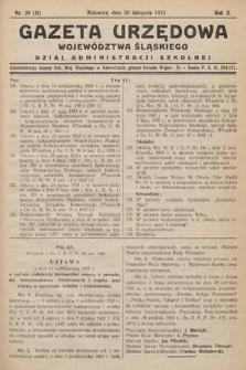 Gazeta Urzędowa Województwa Śląskiego. Dział Administracji Szkolnej. 1933, nr39(11)